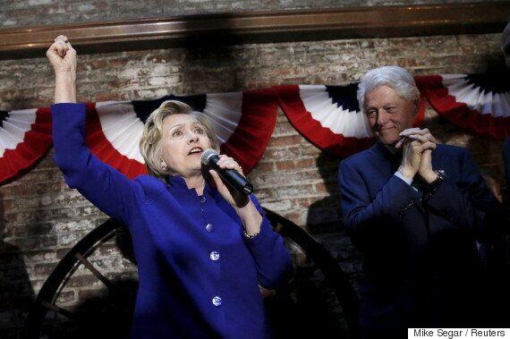 힐러리 클린턴이 뉴욕 경선에서