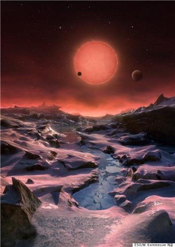 39광년 떨어진 곳에서 지구와 비슷하게 생긴 행성 3개가 동시에