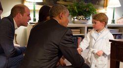 오바마 대통령 부부와 조지 왕자가 만난 순간(사진