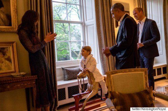 오바마 대통령 부부와 조지 왕자가