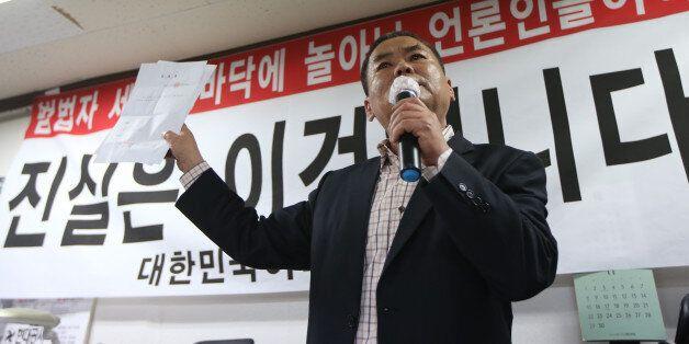 어버이연합 추선희 사무총장이 중앙일보 기자에게 '전경련 지원'에 대한 2가지 사실을
