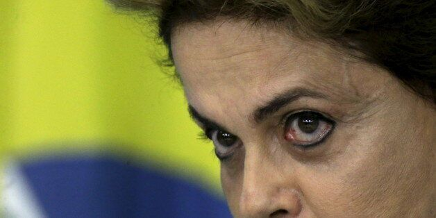 Brazil's President Dilma Rousseff looks on during a news conference at Planalto Palace in Brasilia, Brazil...