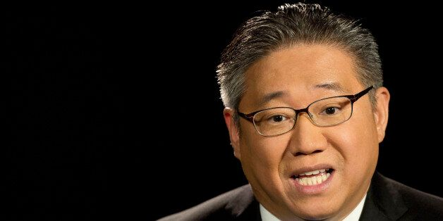 Kenneth Bae, a U.S. citizen who was detained in North Korea for two years, talks during an interview,...