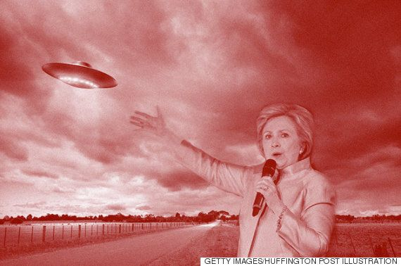 힐러리 클린턴이 UFO로 표를 모으는 방식은
