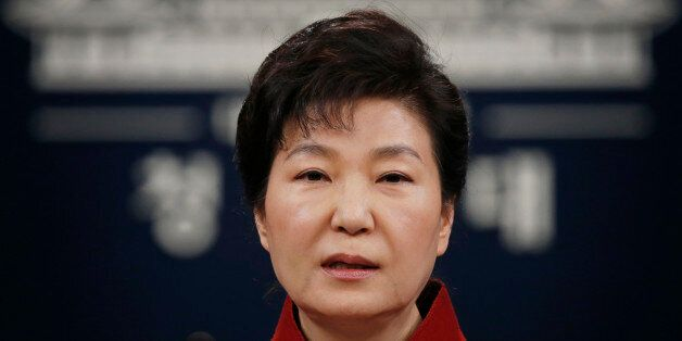 FILE - In this Jan. 13, 2016, file photo, South Korean President Park Geun-hye addresses the nation during...