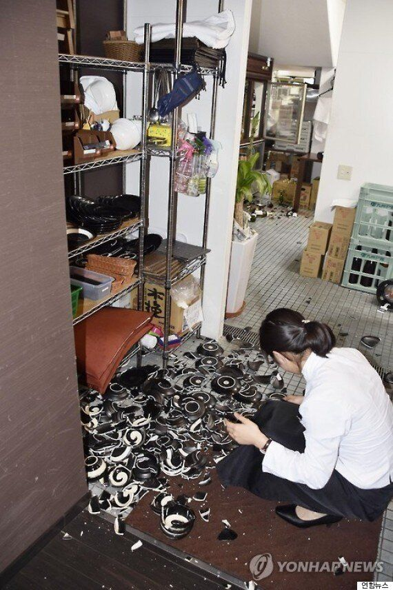 일본 규슈 규모 6.4, 구마모토 진도 7 강진