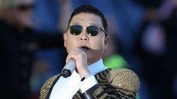싸이가 강남에서 중국관광객 4000명과 '말춤파티'를