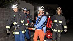日 구마모토 강진으로 9명이 사망하다(사진,