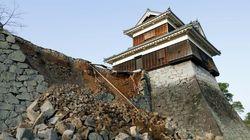 지진 때문에 구마모토 성도 피해를