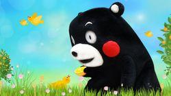 쿠마몬 그림이 구마모토에 응원을 전하다