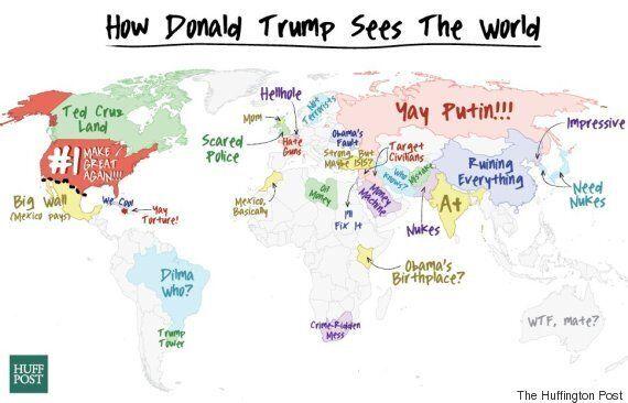 도널드 트럼프가 여러 나라를 바라보는 시선