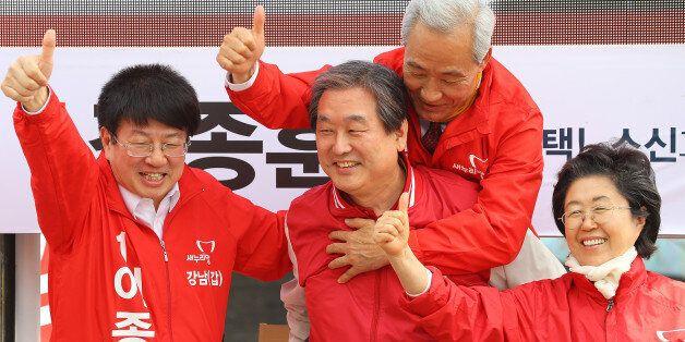 새누리당 '강남불패' 신화 깨졌다 : 3개 지역구