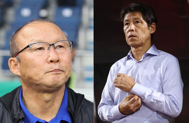 '미니 한일전' 베트남 대 태국 경기 이후 박항서와 니시노가 극과 극의 반응을