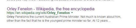 2일 동안 호주 총리가 된 12살