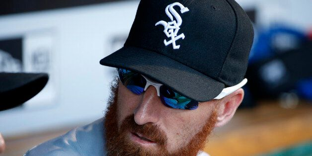 Chicago White Sox's Adam LaRoche sits on the bench during a baseball game against the Pittsburgh Pirates...