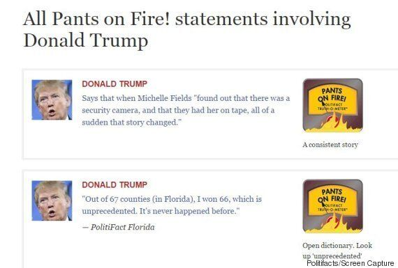 트럼프가 1시간에 한 71 거짓말을