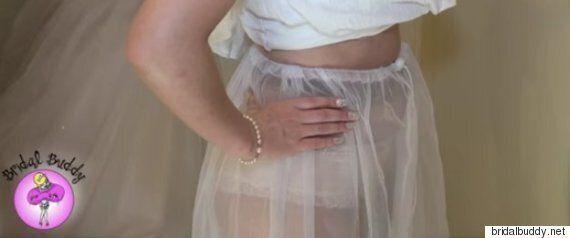 웨딩드레스를 입고도 화장실에 쉽게 갈 수 있는 발명품이