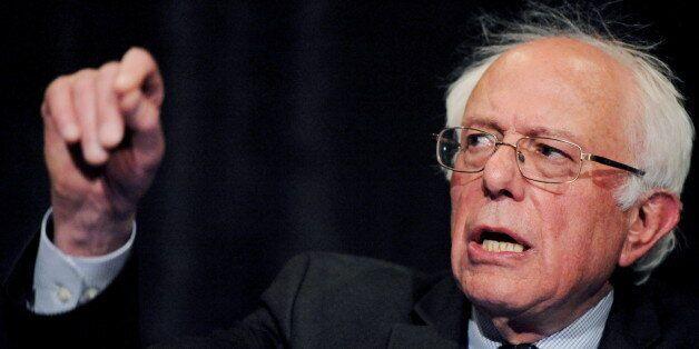 Democratic U.S. presidential candidate Bernie Sanders speaks at the Wisconsin Founders Day Gala in Milwaukee,...