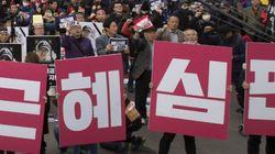 신촌과 서울역 광장에서 시위로 교통