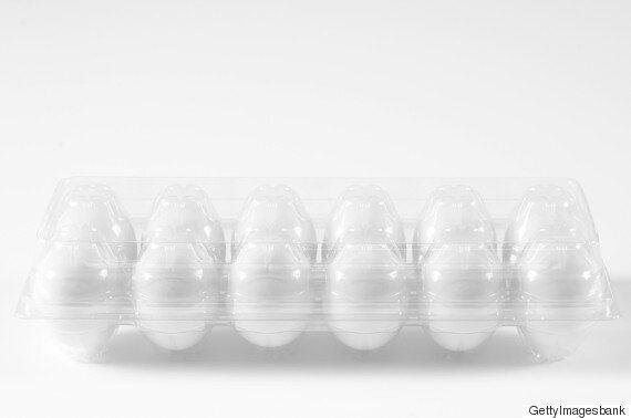 플라스틱 달걀 케이스를 재활용하는 놀라운