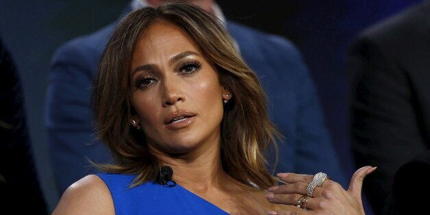 Cast member and executive producer Jennifer Lopez speaks at a panel for the NBC