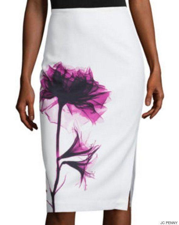 이 치마의 꽃무늬가 패션을 완전히