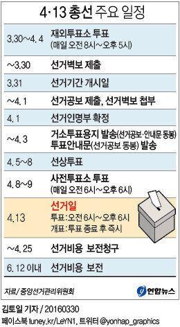 D-1 : 4·13 총선 공식 선거운동이
