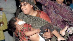 파키스탄 어린이공원 테러 현장의 비극적인