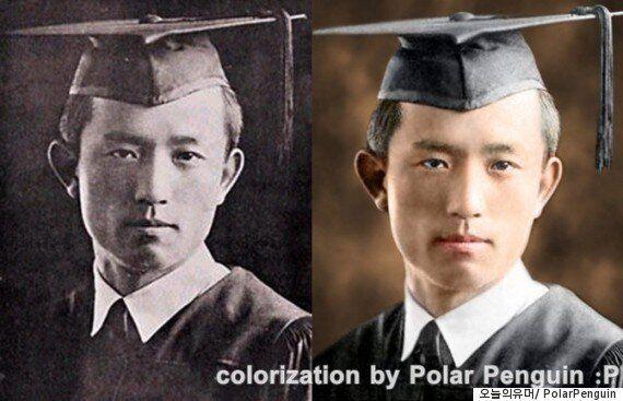 '오늘의 유머' 유저가 컬러로 복원한 근대 문인들의