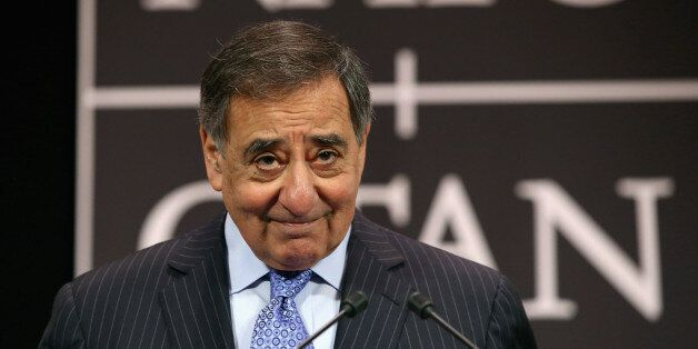 Defense Secretary Leon Panetta hold a news conference at the end of the North Atlantic Treaty Organization...