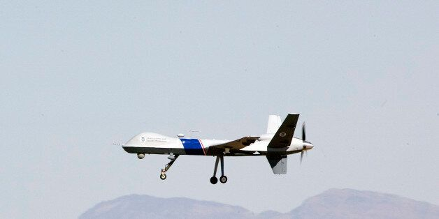 The new U.S. Customs and Border Protection unmanned aircraft the MQ-9 Predator is shown in flight at...