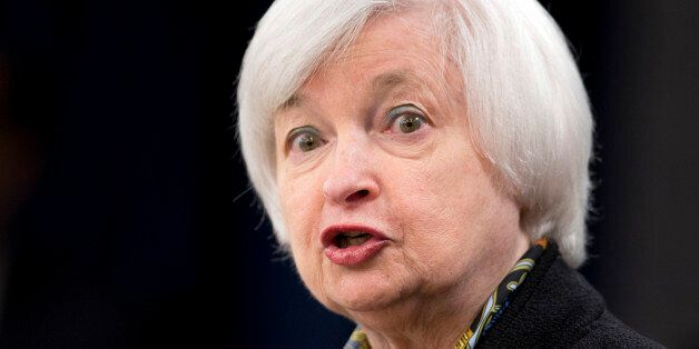 Federal Reserve Chair Janet Yellen speaks during a news conference after the Federal Open Market Committee...