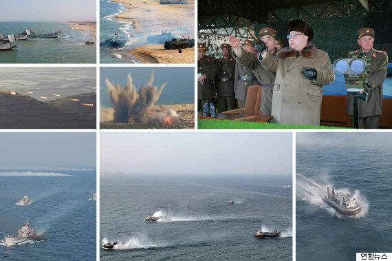 북한군, 한국 겨냥 상륙훈련