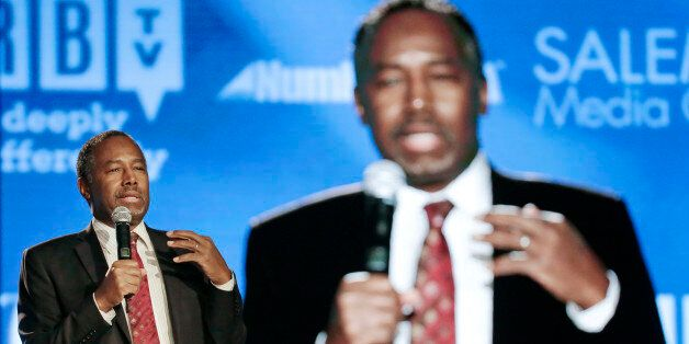 Republican presidential candidate Ben Carson speaks at the National Religious Broadcasters convention...