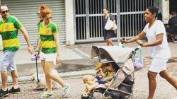이 부부 시위자 사진이 브라질에 논쟁을