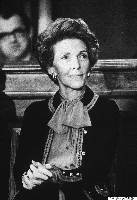 레이건 전 미국 대통령 부인 낸시 여사,