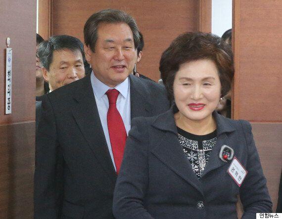 김무성, '면접관' 이한구와 날 선 논쟁을