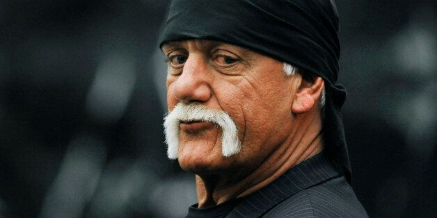 Hulk Hogan, whose given name is Terry Bollea, waits in the courtroom during a break Wednesday, March...