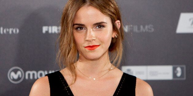 FILE - In this Aug. 27, 2015 file photo, English actress Emma Watson poses for photographers during the...