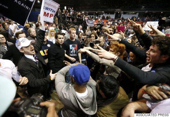 도널드 트럼프 시카고 유세장에서 대형 폭력사태가