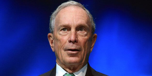 FILE - In this Dec. 3, 2015, file photo, former New York Mayor Michael Bloomberg speaks during the C40...
