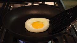 완벽한 모양의 계란 후라이 만드는 간단한