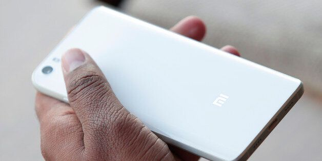 The new Xiaomi Mi5 is displayed during the Mobile World Congress wireless show in Barcelona, Spain, Wednesday,...