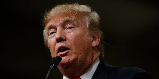 Republican presidential candidate Donald Trump speaks during a campaign stop Friday, Feb. 19, 2016, in...