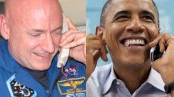 1년 만에 돌아온 우주 비행사에게 오바마가 아재 개그를