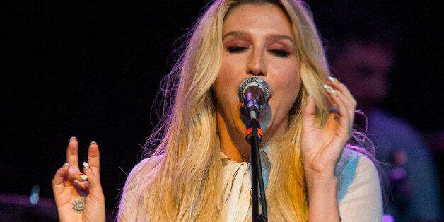 Kesha performs on stage during Brian Fest: A Night To Celebrate The Music Of Brian Wilson at the Fonda...