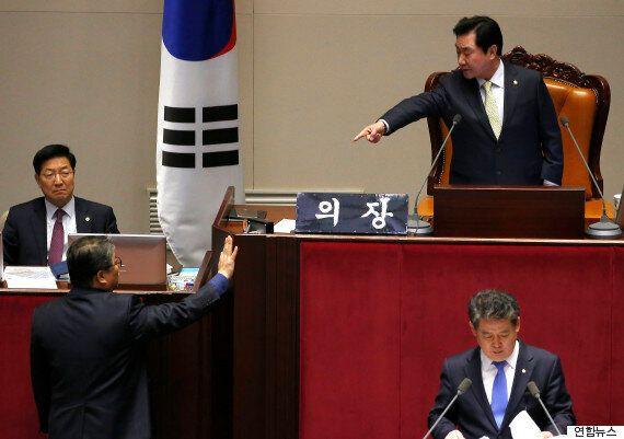 이석현 부의장에게 엄청 혼나는 조원진 의원