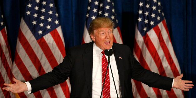 Republican presidential candidate Donald Trump speaks at campaign stop, Thursday, March 3, 2016, in Portland,...