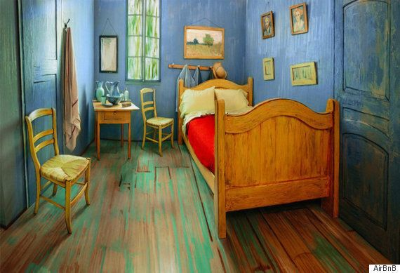 실제로 재현된 반 고흐의 '침실'을 에어비앤비에서 예약할 수