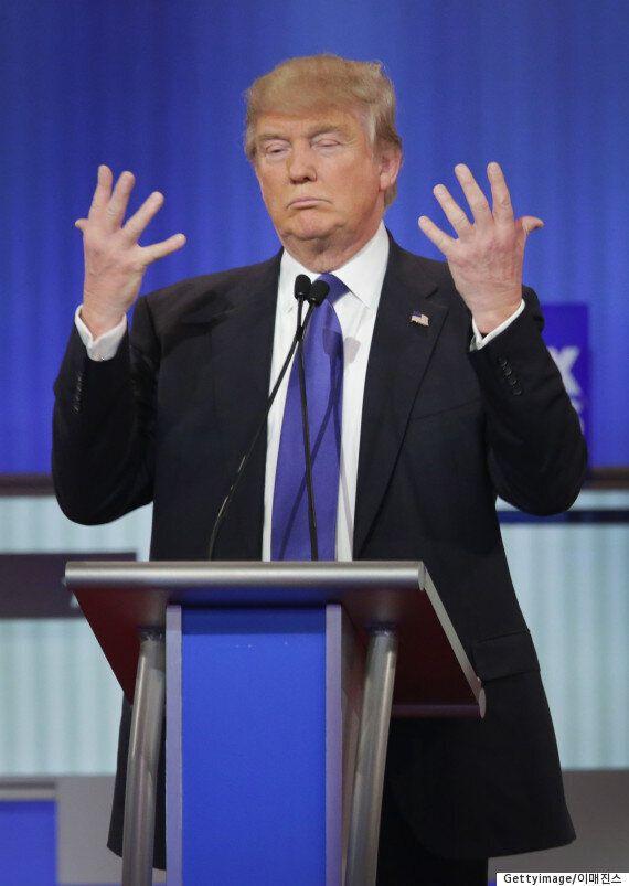 트럼프가 공화당 TV토론에서 자신의 성기 크기를 변호하다